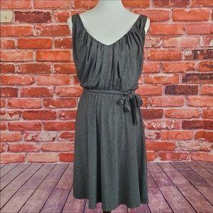 Laundry Shelli Segal Gray Vneck Dress